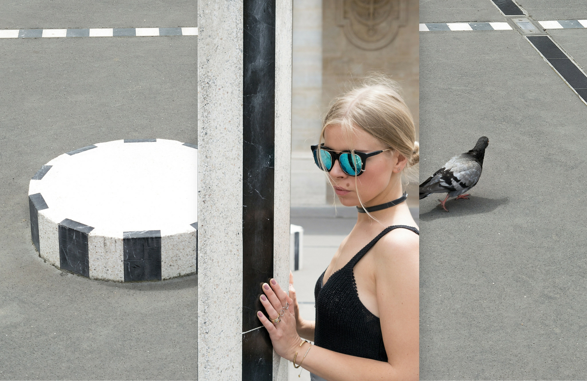 Dra clothing and lappel sunglasses wore by Olga pancenko on fashion blog aestheticallypleasing